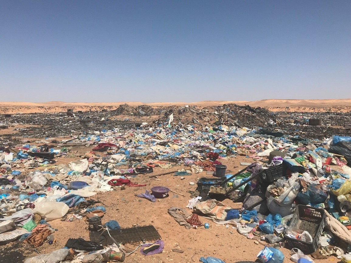 The picture shows an official waste collection site in Algeria. PHOTO: UNHCR