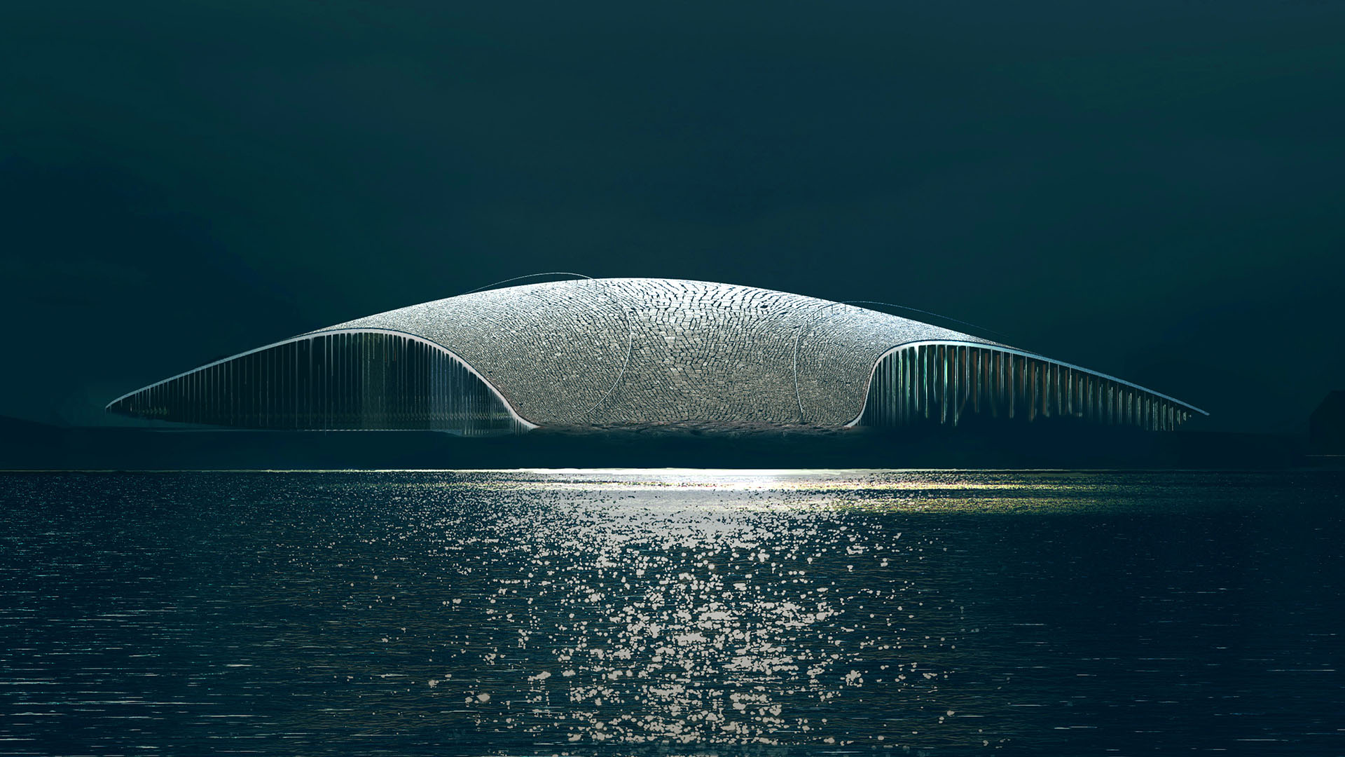 The Whale/Dorte Mandrup. Illustrasjon: MIR, Bergen.
