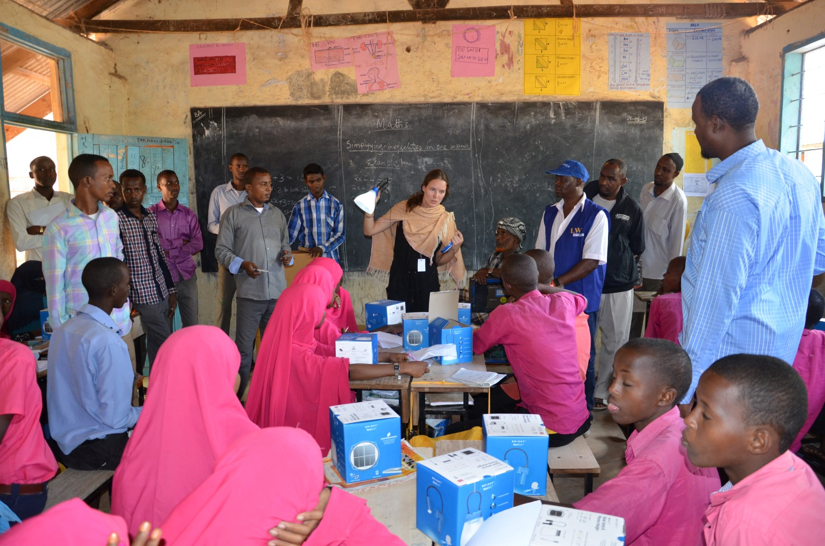Field trips and user centric studies are important components in gaining understanding of the needs in the humanitarian and development market.Innovation Norway brought companies to Dadaab refugee camp, here with Bright Products' solar lamp. Assad, UNHCR Kenya